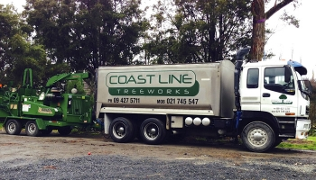 Isuzu 6 Wheeler truck with 20m3 mulch bin